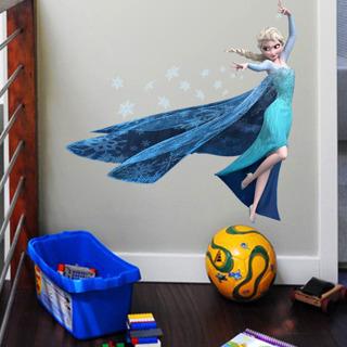 Queen Elsa Frozen Princess DIY Kids Room Decal Removable Wall Sticker Decal