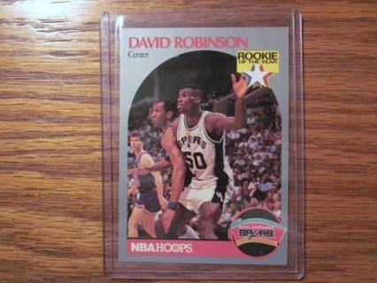Free David Robinson 1990 Rookie Of The Year Spurs Nba Hoops