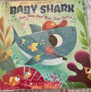 "Brand New: BABY SHARK 9""x9"" Book! Gr8 Story w/Dance Instructions. Fun Reading!"