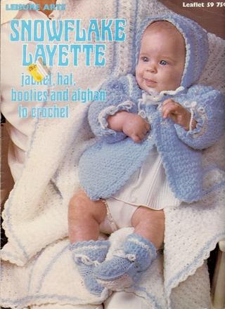 Free Snowflake Layette Crochet Pattern Vintage Crochet Listia