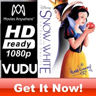 SNOW WHITE HD MOVIES ANYWHERE OR VUDU CODE ONLY