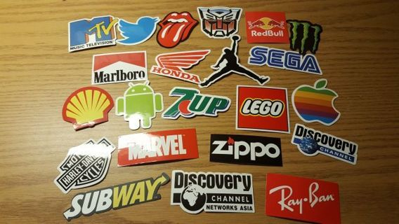 HUGE 22 Vinyl Sticker Logo Lot