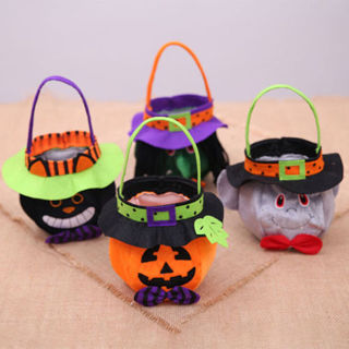 Halloween Candy Bag Pumpkin Cat Witches Vampire Party Decor For Kids Gift Bag