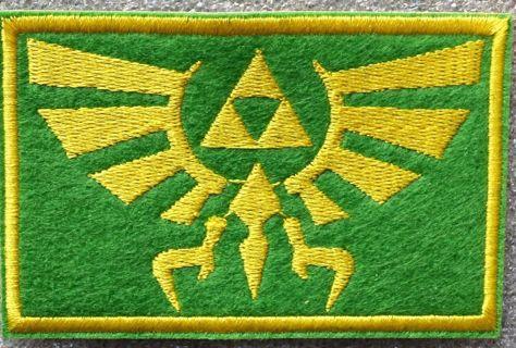 Legend of Zelda Hyrule's Royal Crest Logo Embroidered Iron On patch