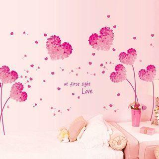 Romantic Love Pink Heart Wall Sticker Decal Room Decor