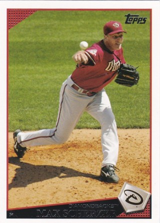 2009 Topps Arizona Diamondbacks Baseball Card #224 Max Scherzer