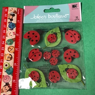 Jolees Boutique cute ladybugs dimensional sticker sheet NEW