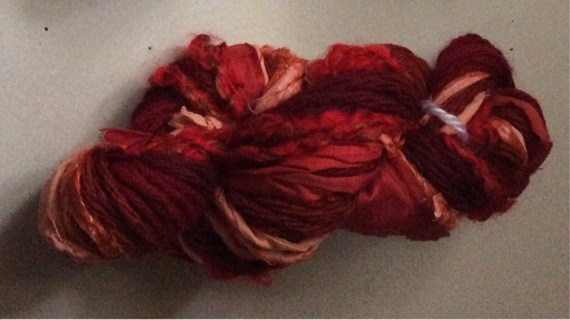 Shades of Red Scrap Yarn
