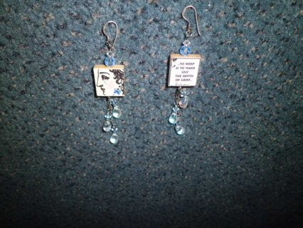 STERLING SILVER ARTISAN EARRINGS XLNT COND FREE SHIPPING!
