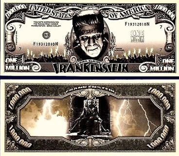☆Frankinstein Monster Collectible Million $ Bill