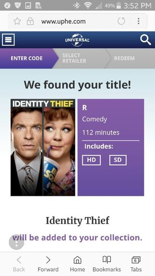 Identity thief Itunes only