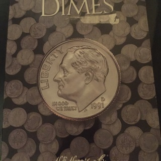 (Empty) used dime book