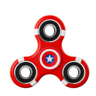 Captain America Fidget Spinner w.Case
