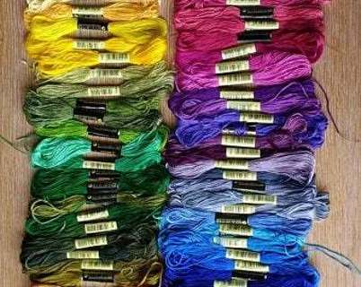 1 orange embroidery thread
