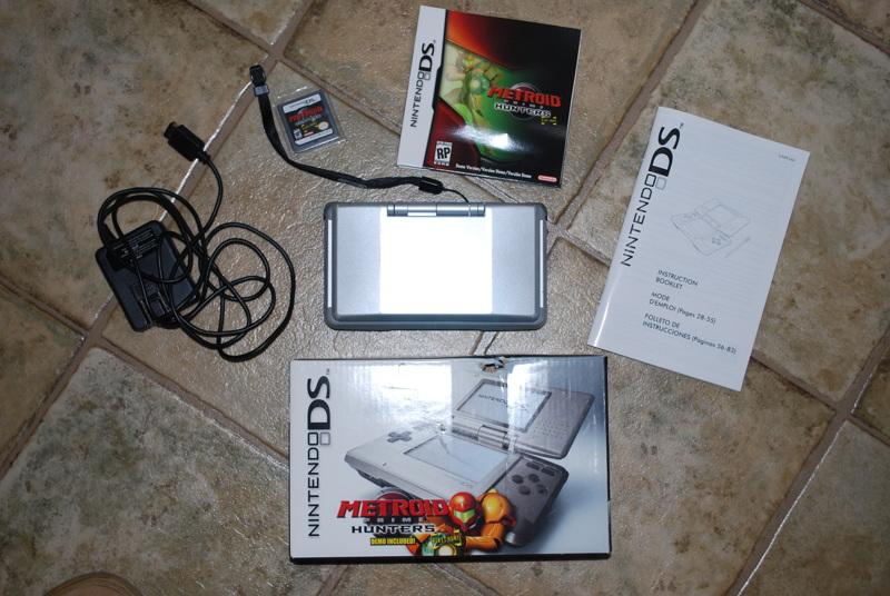 Free: Nintendo DS, Original Box, 2 stylus, charger, Metroid