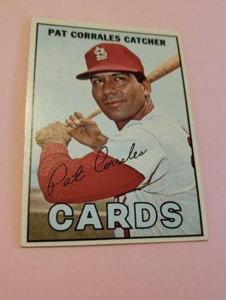 1967 Pat Corrales St. Louis cardinals vintage baseball card