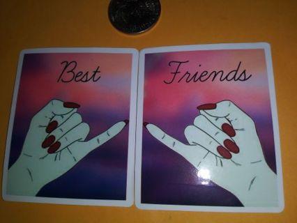 Best friends sticker set no refunds regular mail high quality no lower steal