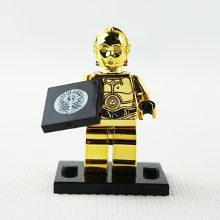 Minifigures Star Wars C-3PO Movie Machine Chromed Limited Edition Building Toys
