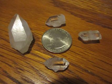 4 Quartz Crystals from Jessieville Arkansas