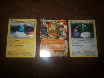Free: ツLandorus EX Tornadus Thundurus Pokemon cards ...