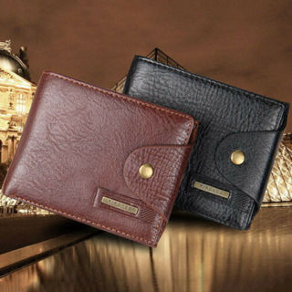 Fast Delivery - New Men Bifold Leather Credit ID Card Holder Wallet Coin Pocket #3