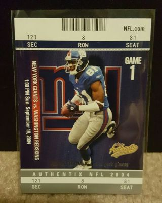 NFL..Amani Toomer..2004 Fleer Authentix..Super Bowl Champion (XLII)..NYG Ring of Honor.