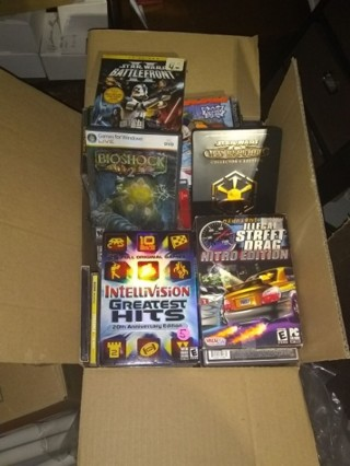 mystery box full of PC games