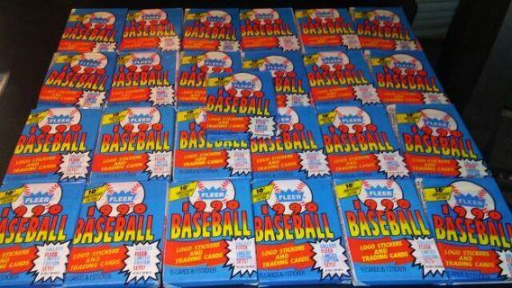 25 sealed packs blue 1990 fleer baseball cards