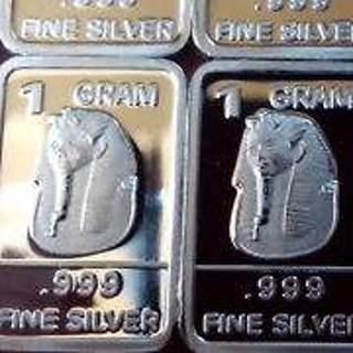 (1) 1 Gram .999 Fine Silver Bar / Egyptian Pharoah