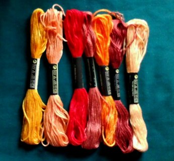 7 SKEINS EMBROIDERY THREAD #5