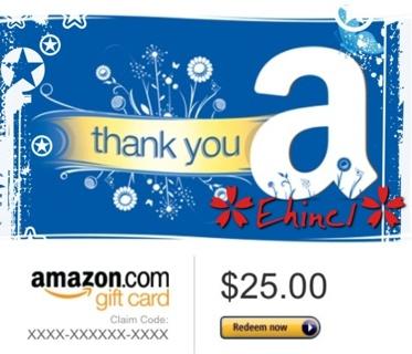 ✿•GIN: $25.00 / $1 Amazon.com E-Gift Card•✿