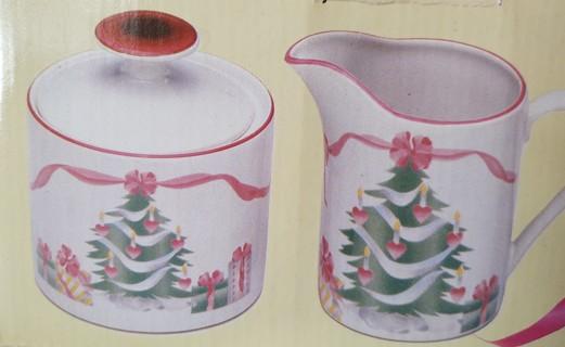 Christmas Cream & Sugar Set