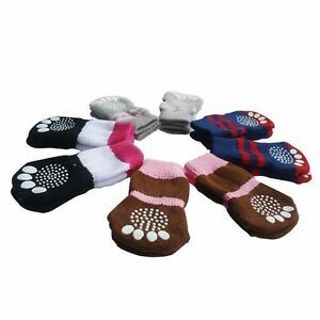 Small Knitted Dog Cat Cotton Puppy Cute Anti-slip Pet Warm Skid Socks Bottom