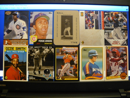 (10) Baseball Cards Stars, HOFers, Serial #'d or Inserts - LOT 15 - Read Details