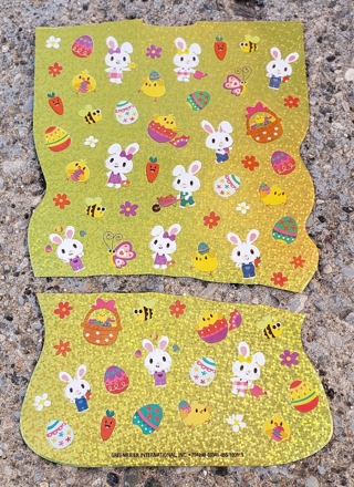 EASTER SPARKLE STICKERS 2 SHEETS LOT 1