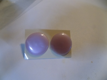 1 inch round lilac Lucite post earrings