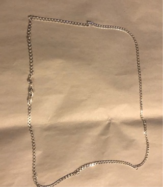 """BNIP (.925 Sterling Silver Stamped) Link Chain. 30"""" Long."""