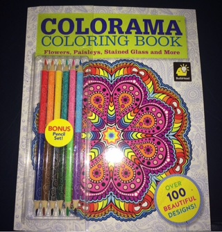 COLORAMA COLORING BOOK FLOWERSPAISLEYS STAINED GLASS AND MORE