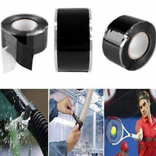 Black Silicone Rubber Repair Tape Waterproof Bonding Rescue Self Fusing