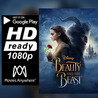 BEAUTY AND THE BEAST LIVE ACTION HD GOOGLE PLAY CODE ONLY
