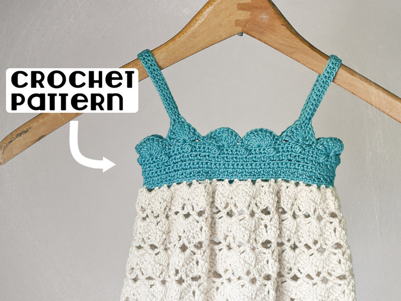 Free Pdf Crochet Pattern For Baby Belle Dress 0 3 And 3 6 Months