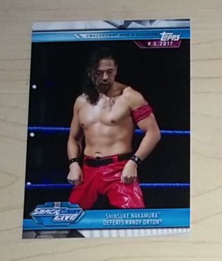 WWE 2019 Road to Wrestlemania Shinsuke Nakamura Card