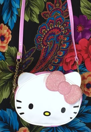 rare* Patent Leather Hello Kitty Purse H&M x SANRIO cross body bag free shipping