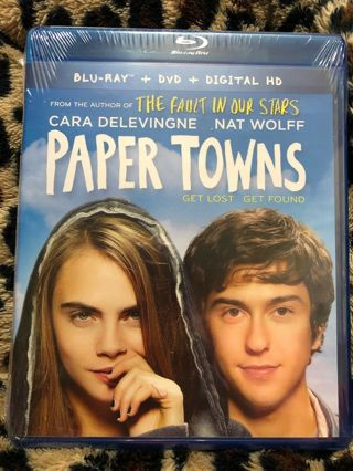 2015 Paper Towns Blu-ray 2 Disc Dvd Movie Digital Get Lost Get Found-READ-New & Sealed!