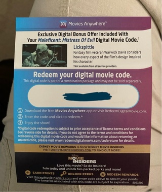 Both Movies: Maleficent and Mistress of Evil Digital Codes Movies Anywhere Ultra 4K and Blu-ray