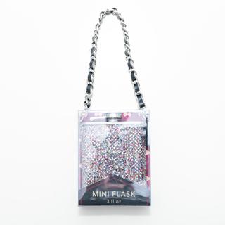 BNIP Wild Eyed Mini Glitter Flask 3 OZ. STOCKING STUFFER!!