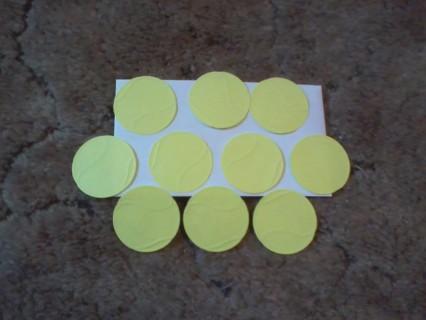 Die cut tennis balls