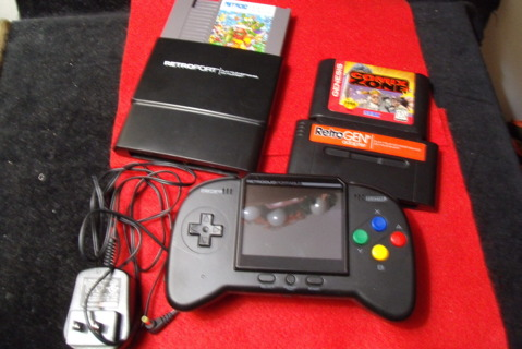 Hand game console and games