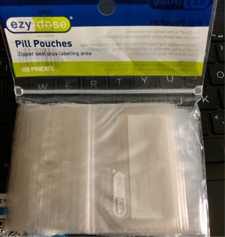 "14 Brand New: 3"" x 3"" Waterproof, Reclosable, 2 mil, Zipper Bags! Many Uses!! Meds/Office/etc"