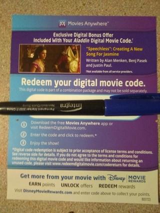 Aladdin-Digital Copy and DMR, Live Action